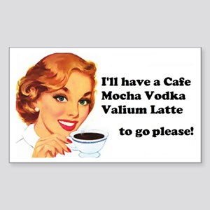 Vodka Latte ToGo Sticker (Rectangle)